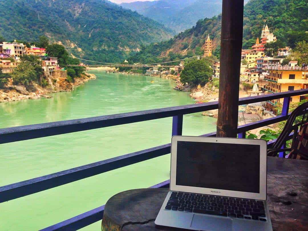 Office on the Ganges in Rishikesh, India