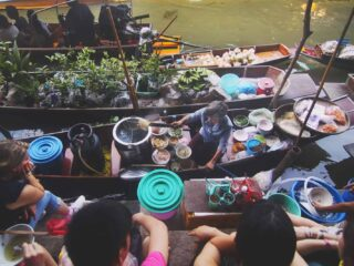 Very famous River market in Thailand