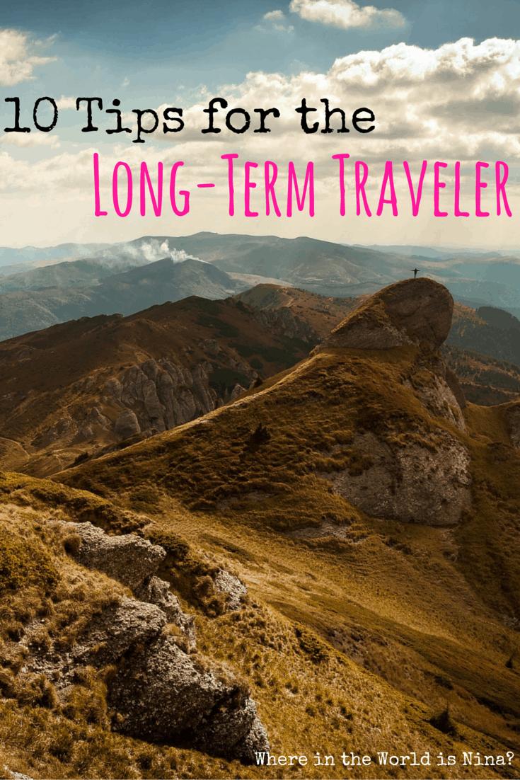 long-term traveler tips