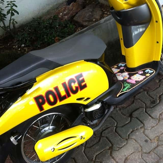 This police motorbike means business....