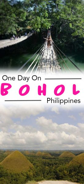 a one day in bohol itinerary