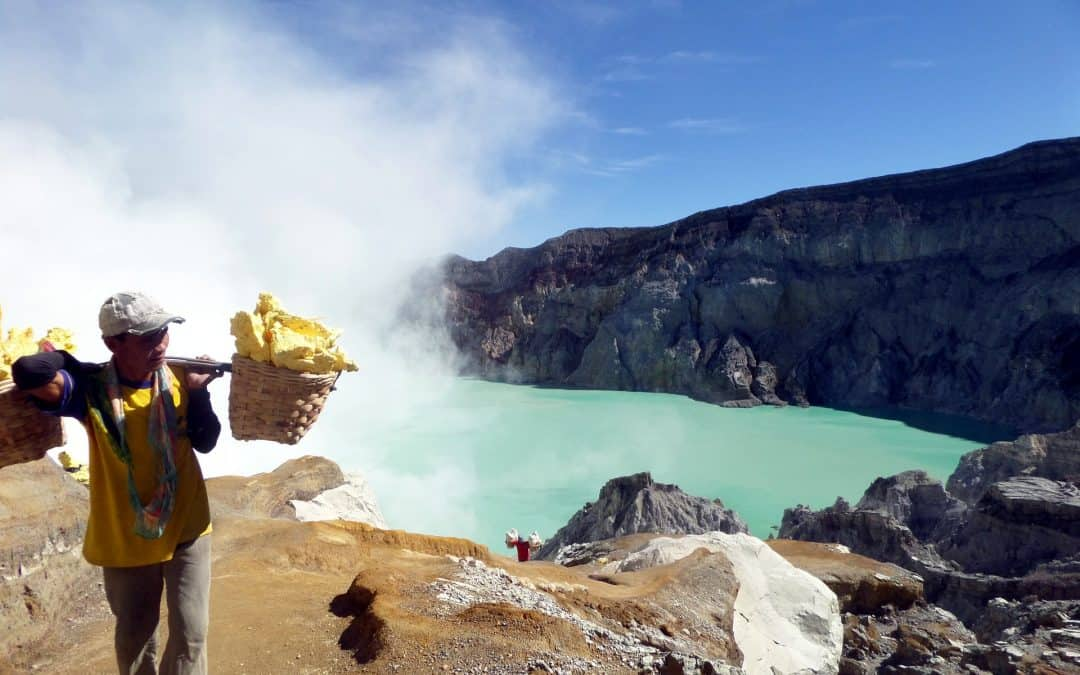 See the amazing blue flames at Kawah Ijen tour