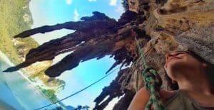 rock climbing on Tonsai Beach