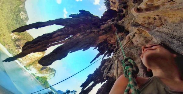 rock climbing on Tonsai Beach