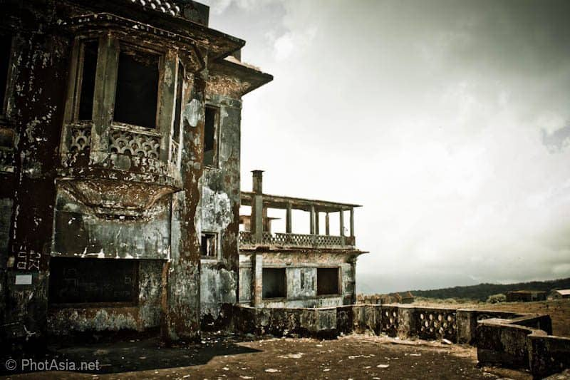 Bokor Hill Station in monochrome effect in Cambodia