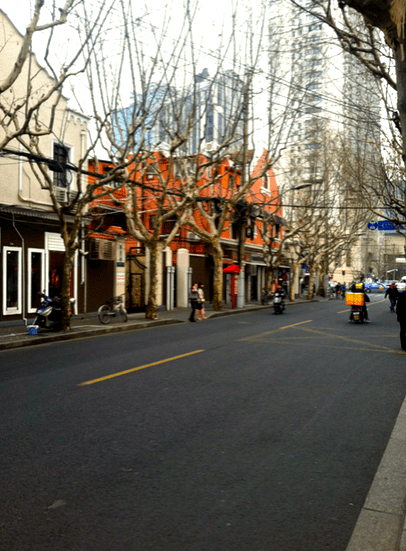 layover in shanghai, china street