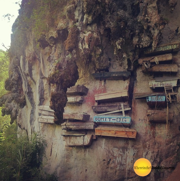 sagada-philippines-hanging-coffins - Bizarre places in Southeast Asia