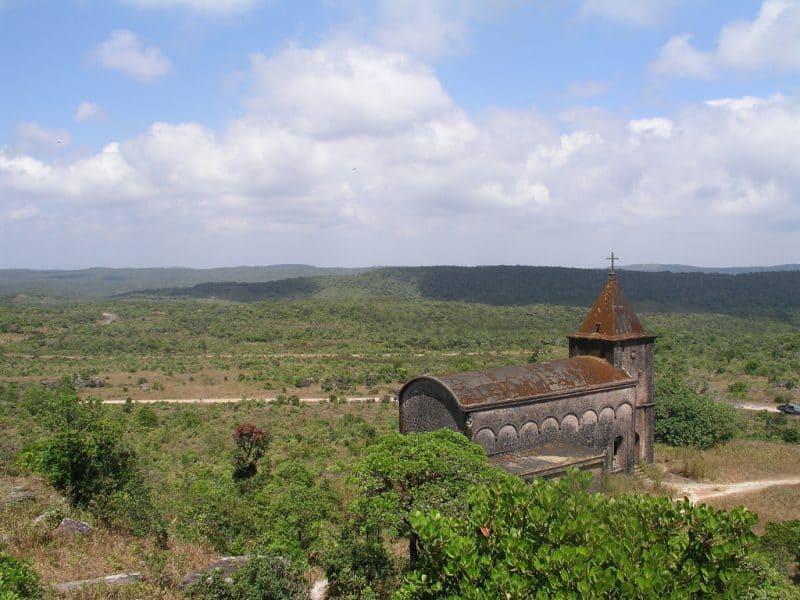 Beautiful landscape of Bokor Hill in Cambodia