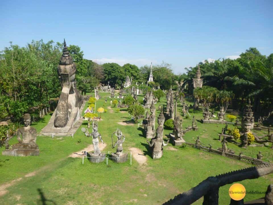 vientiene laos buddha park - Bizarre places in Southeast Asia