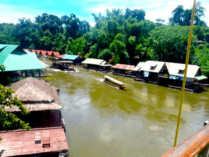 kanchanaburi thailand river view