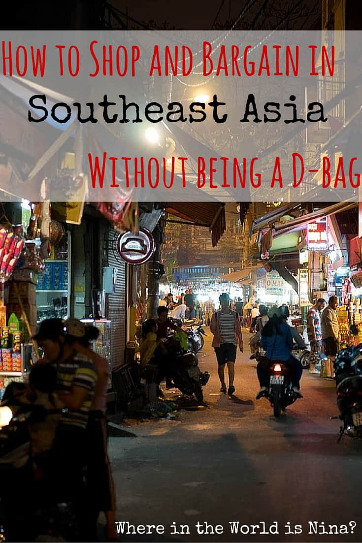 shopping and bargaining in se asia