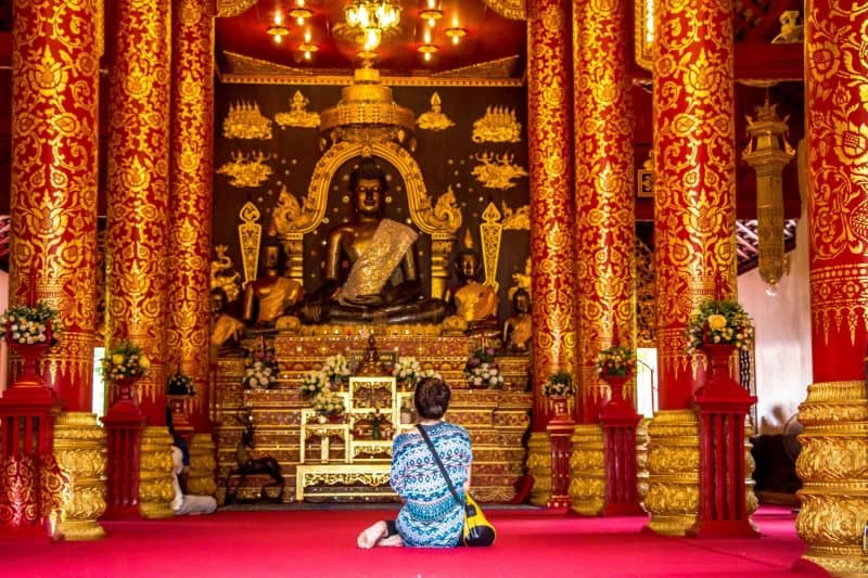 Visiting temples is a popular thing to do in Chiang Rai.