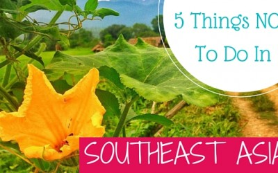 5 Things NOT To Do In Southeast Asia