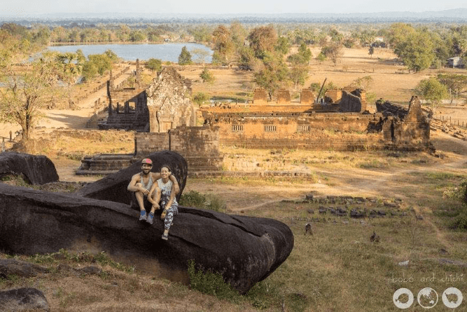 Exploring the Little Barely Visited Angkor Ruins in Champasak Laos