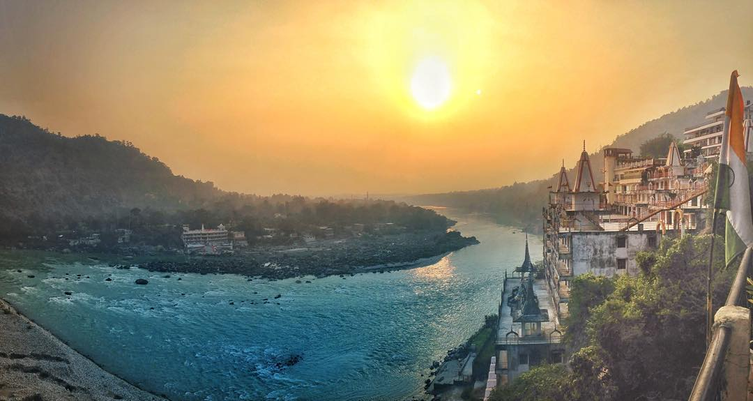 Rishikesh, India sunset view