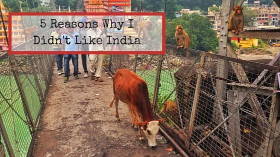 5 Reasons Why I Didn't Like India
