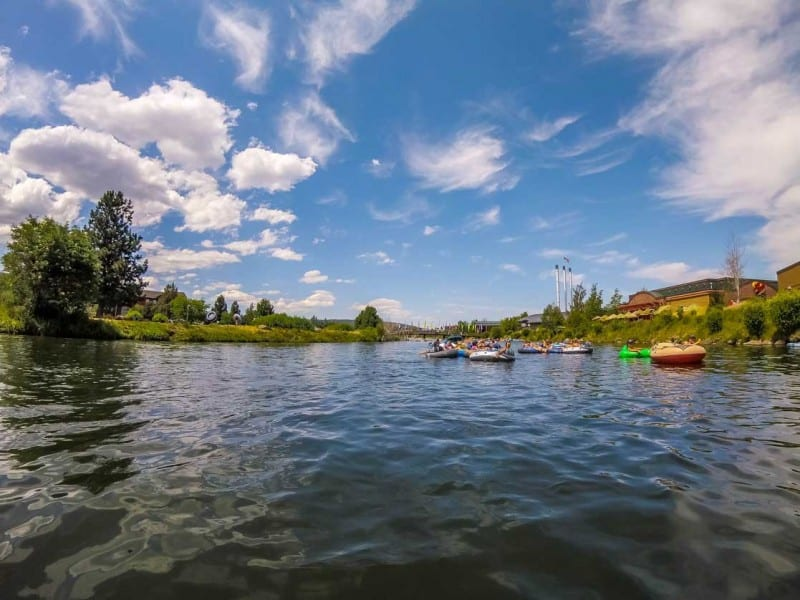 Floating the Descutes River is a must do in bend,oregon