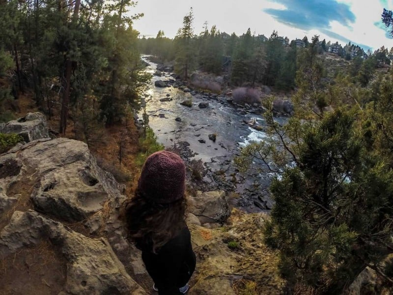 Walk around the river trails when doing things in bend,oregon