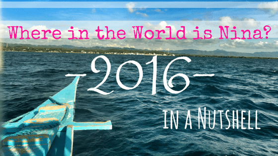 Where in the World is Nina? 2016 in a Nutshell