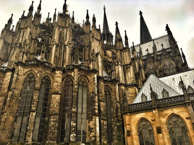 The back of Cologne Cathedral