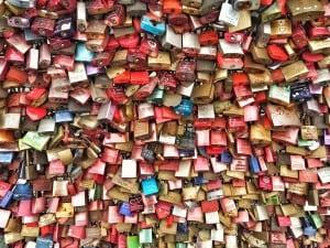 The locks of love around Cologne