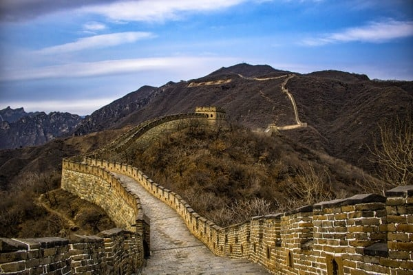 A profile of the Mutianyu Section of the Great Wall of China