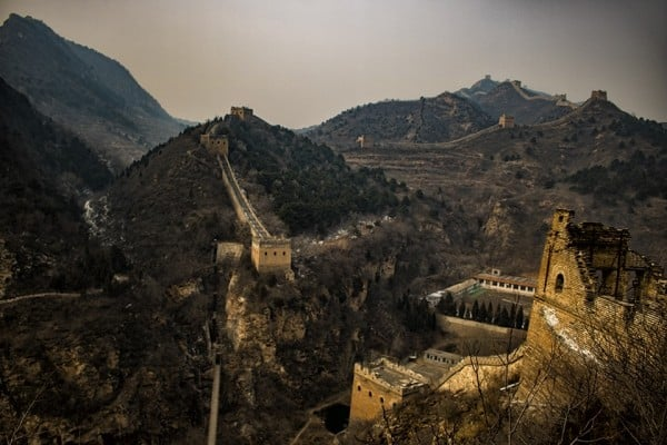 Pictorial view of the great wall of China