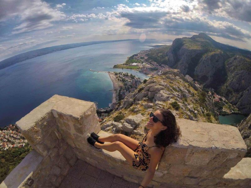 Things to do in Split and Omis, Croatia: Climb the Omis Fortress!