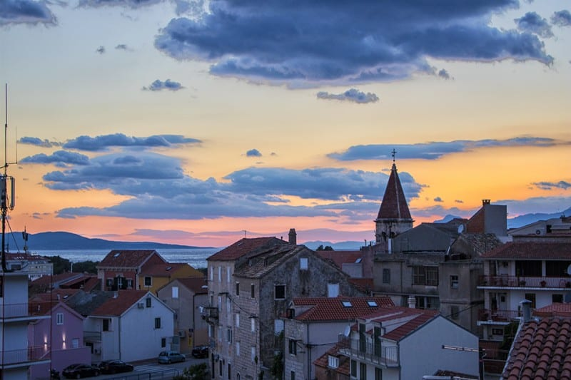 Sunsets are the best! You'll se plenty while on a road trip in Croatia.