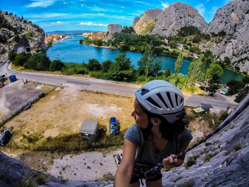 Things to do in Split and Omis, Croatia: Rock Climbing!