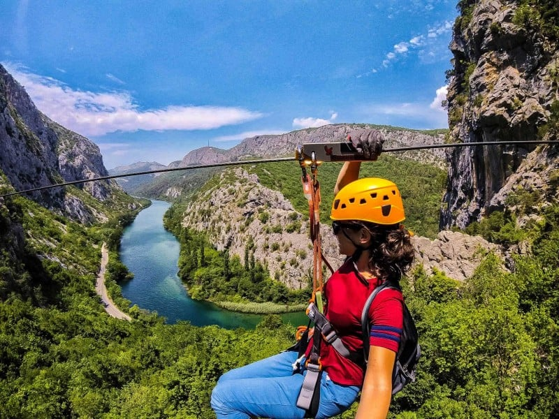 Things to do in Split and Omis, Croatia: Zip line!