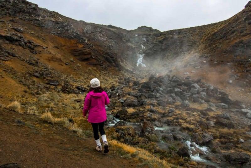 visiting geothermal waterfall iceland itinerary