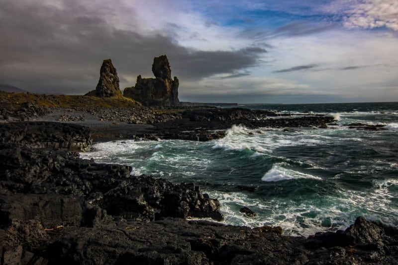 Londrangar Cliffs on an iceland itinerary