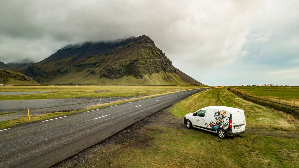 the cheapest campervan in iceland is at kuku campers