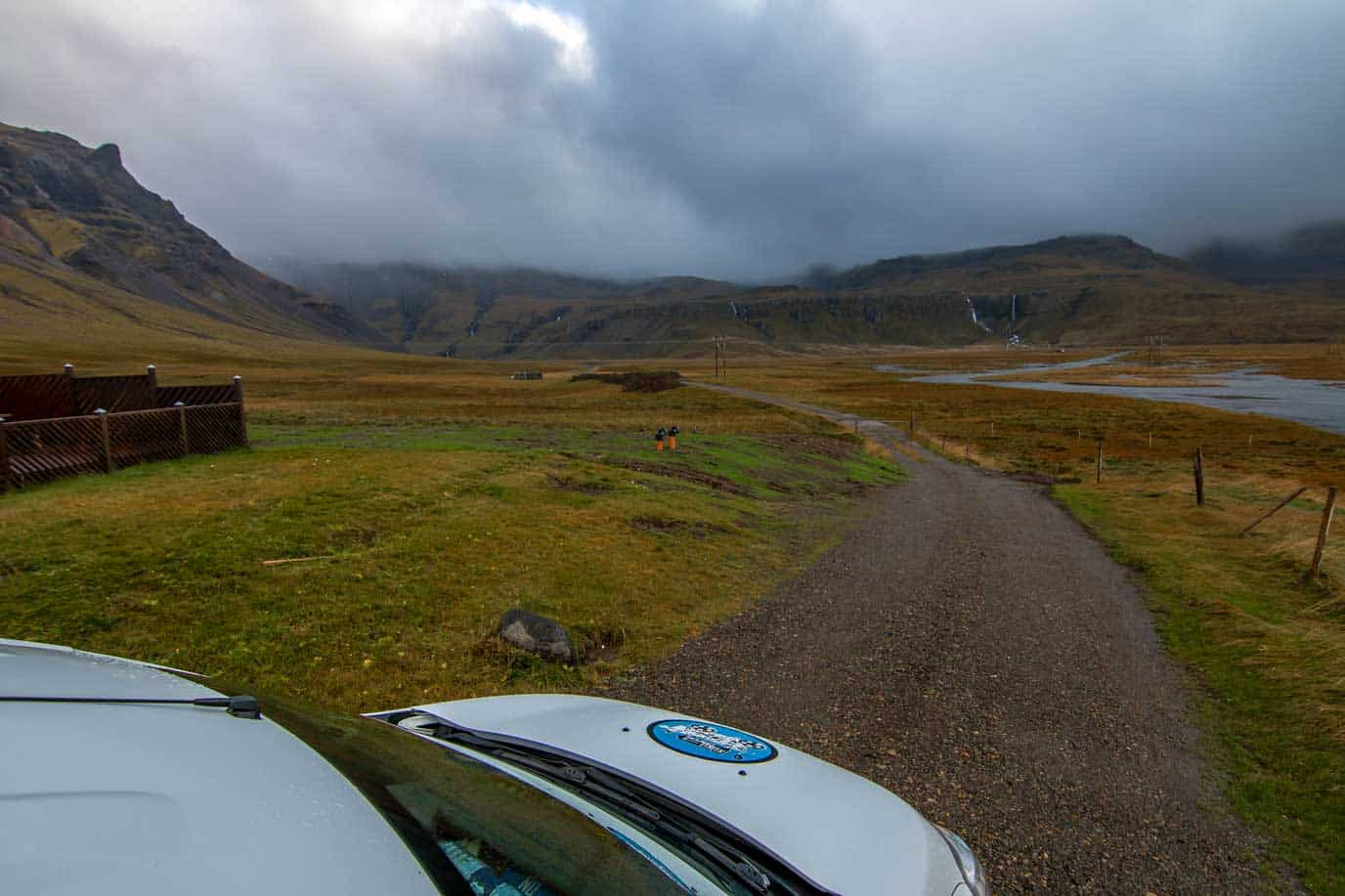finding the best campsite in iceland in our cheapest campervan rental in icelance