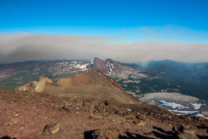 View at south sister and crazy terrain