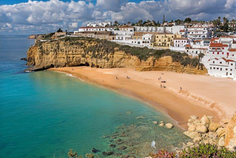 Praia de Carvoeiro Algarve beach