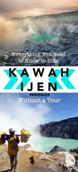 Hiking Kawah Ijen without a tour