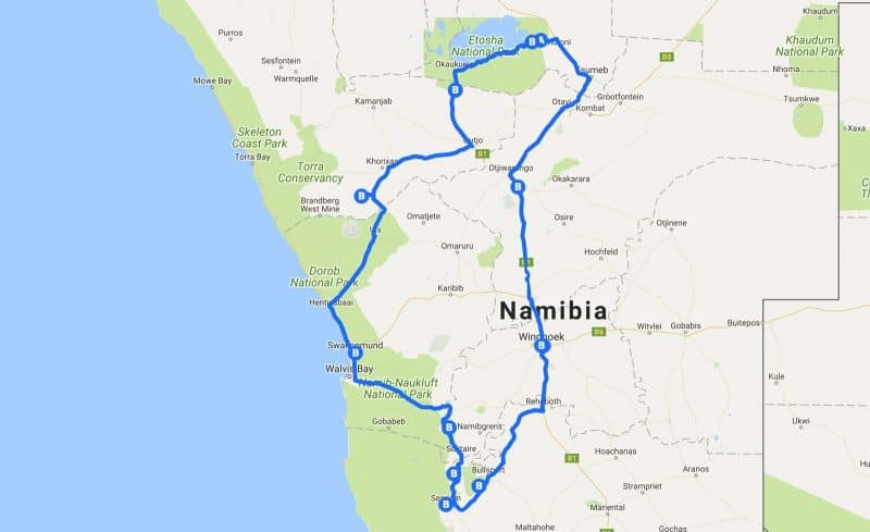 Our 2-week road trip to Namibia