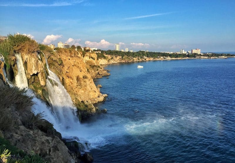 impressive waterfall at Antalya