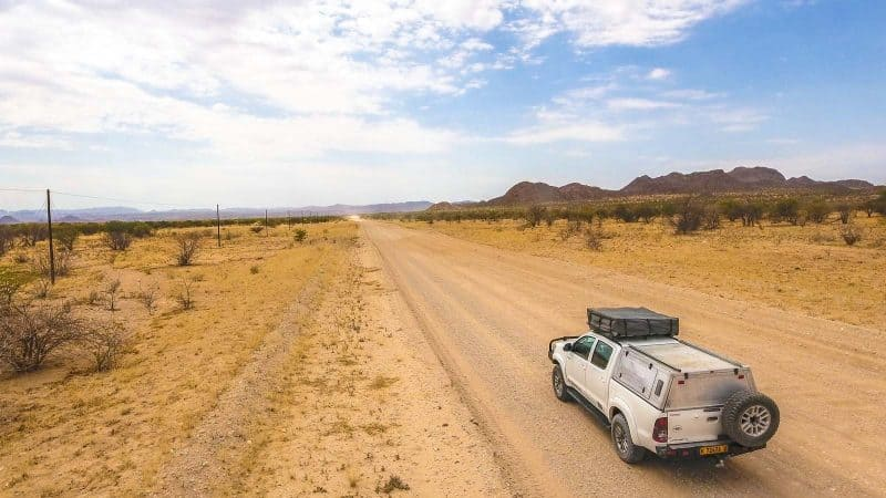 Namibia has an awesome car driving experience