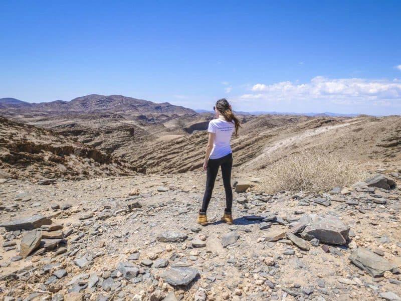 Exploring Gorges In The Namib Desert