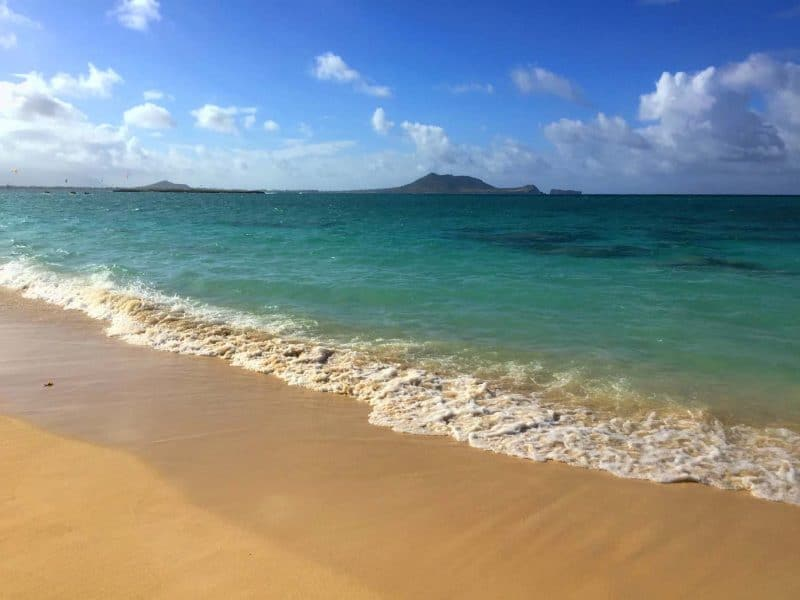 Spend a day at leisure in the beautiful waters of Lanikai beach during your first trip to Hawaii