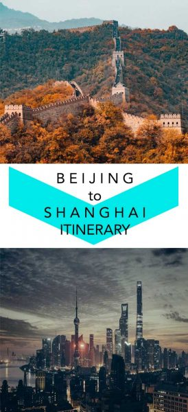 Where to go for 10 days in China when traveling from Beijing to Shanghai