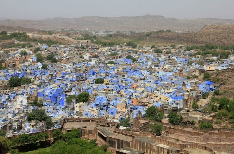 Jodhpur is famous for its blue buildings and a must visit city during your Rajasthan trip.