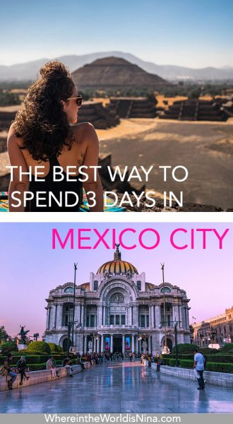 3 days in Mexico City pin
