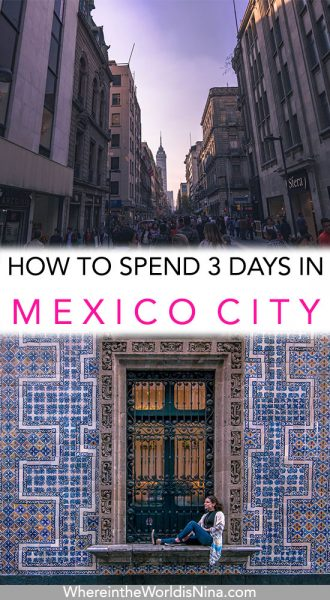 Mexico City itinerary pin