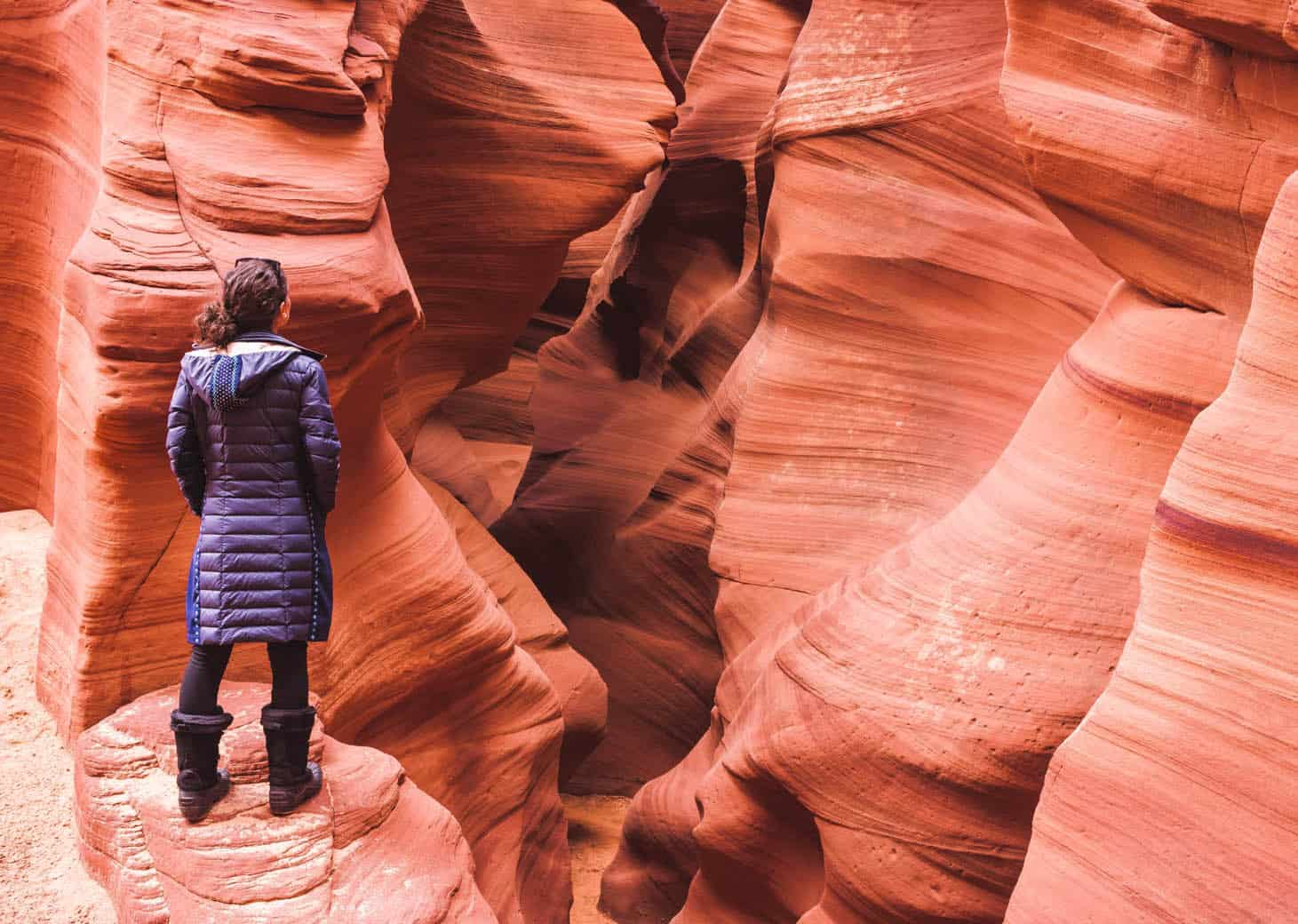 Visiting Antelope Canyon in Winter: Upper, Lower, Or