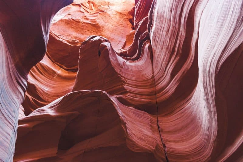 Slots in Antelope Canyon and visiting in winter