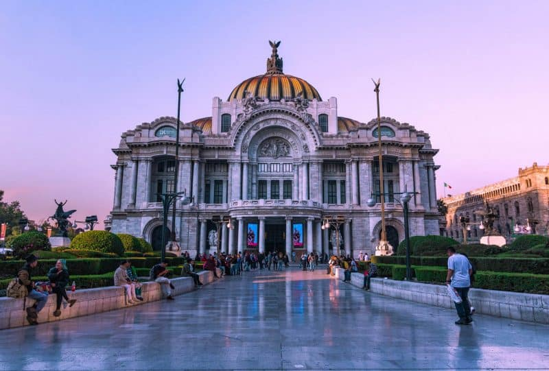 Beautiful buildings everywhere during your Mexico City itinerary.